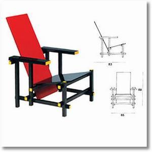 Blog demeures du nord quand mondrian influence rietveld - La chaise rouge et bleue ...