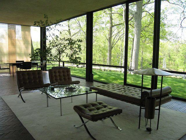 blog demeures du nord l incroyable maison de verre de philip johnson. Black Bedroom Furniture Sets. Home Design Ideas