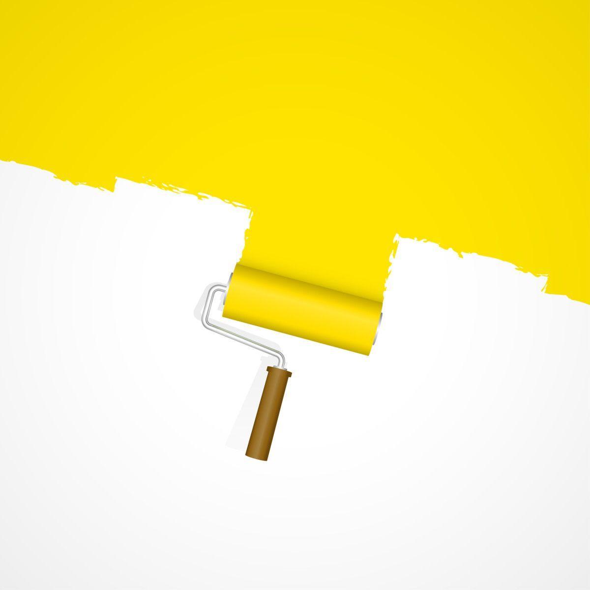 Hintergrund Farbroller - Neuanstrich gelb