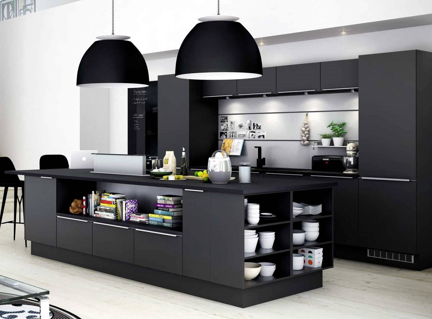 cuisine noir pas cher. Black Bedroom Furniture Sets. Home Design Ideas