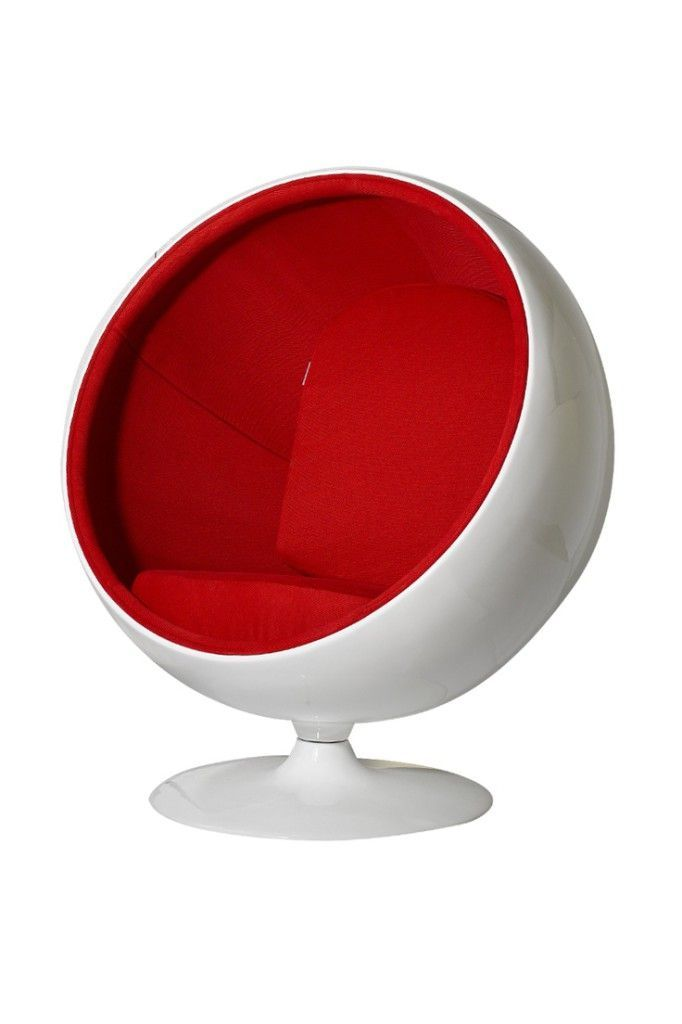 ball chair rouge