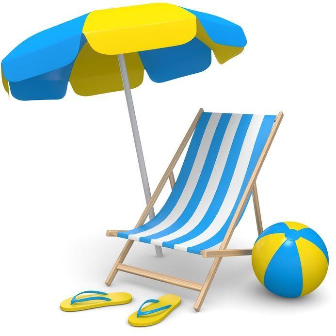 Liege mit Strandschirm
