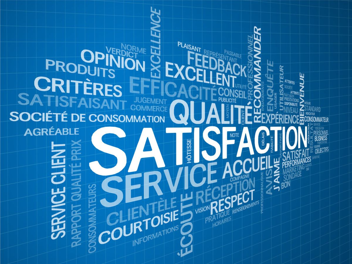 "Nuage de Tags ""SATISFACTION"" (service client qualit garantie)"